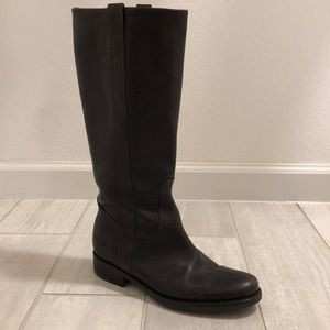 J crew Brewster pull-on tall boot brown 7
